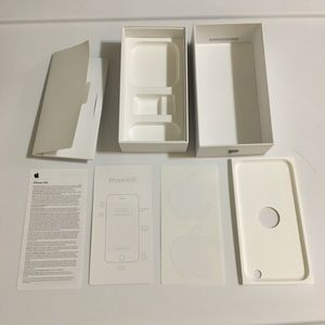 Empty iPhone 6s Space Gray Box & Apple Stickers